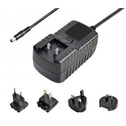 24V1.5A转换头,36W电源适配器,GS认证电源,全球通用电源